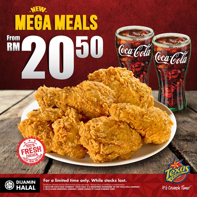 TEXAS CHICKEN - MEGA MEALS | Envictus